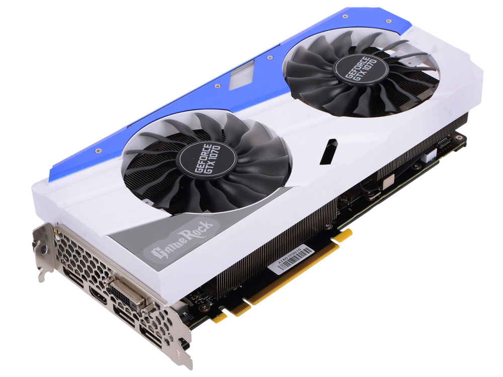 Видеокарта 8192Mb Palit GeForce GTX 1070 GameRock  PCI-E 256bit GDDR5 DVI HDMI DP PA-GTX1070 GameRock дальномер практика дл 20 247 170