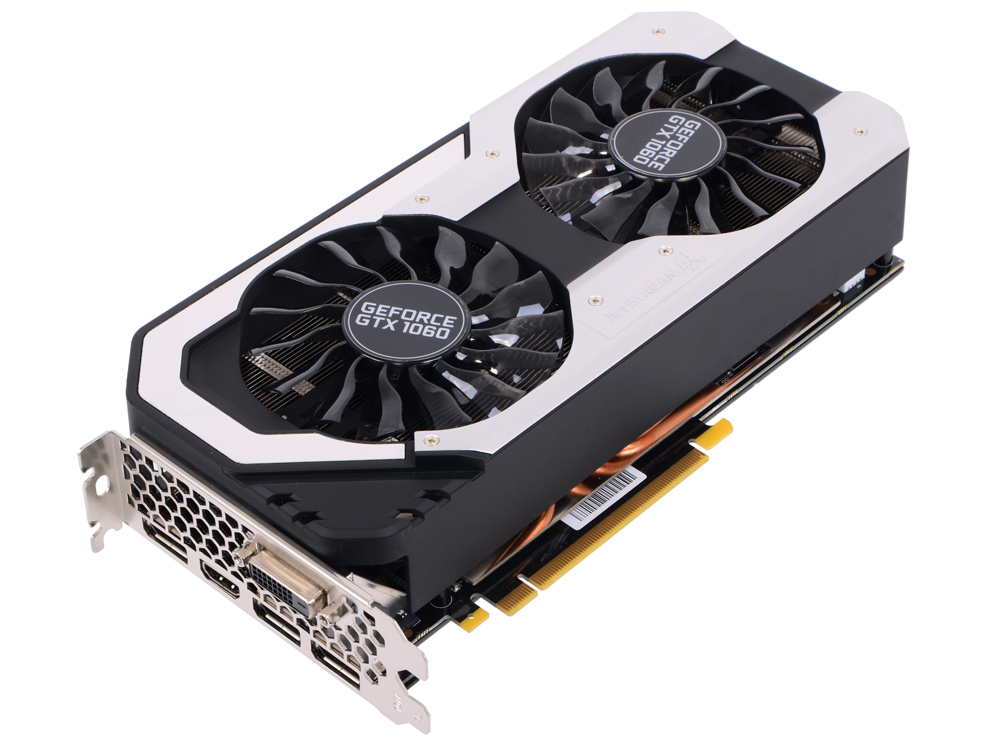 Видеокарта 6144Mb Palit GeForce GTX 1060 Super JetStream PCI-E 192bit GDDR5 DVI HDMI DP PA-GTX1060 Su palit palit geforce gtx 1080 1708mhz pci e 3 0 8192mb 10000mhz 256 bit dvi hdmi hdcp