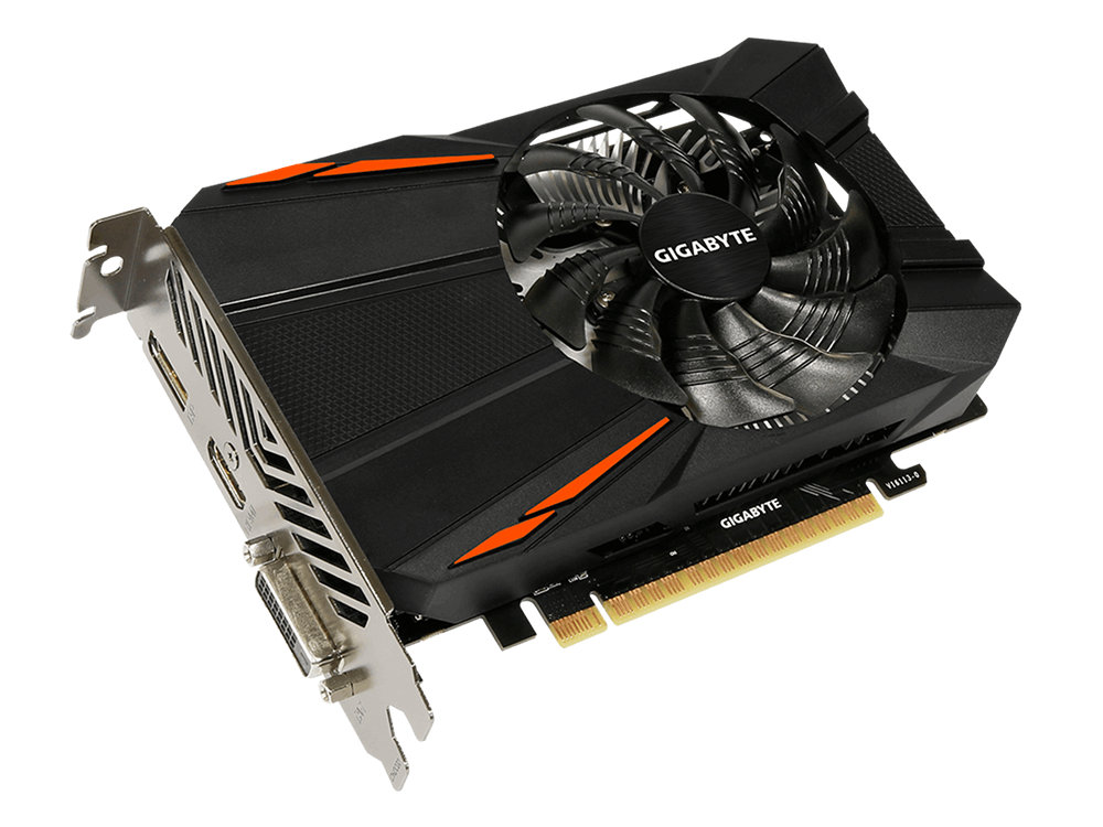 Видеокарта 4Gb GIGABYTE GeForce GTX 1050 Ti D5 4G GV-N105TD5-4GD