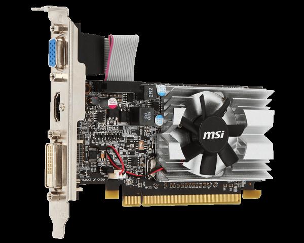 Видеокарта 1Gb (PCI-E) MSI R5 230 1GD3H LP (HD5 230, GDDR3, 64 bit, HDCP, VGA, DVI, HDMI, Low Profile, Retail)