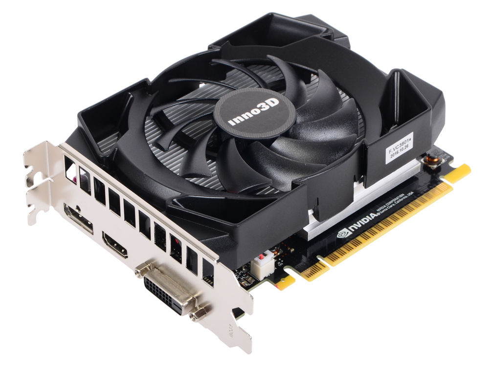 Видеокарта 2Gb Inno3D GeForce GTX 1050 Compact N1050-1SDV-E5CM