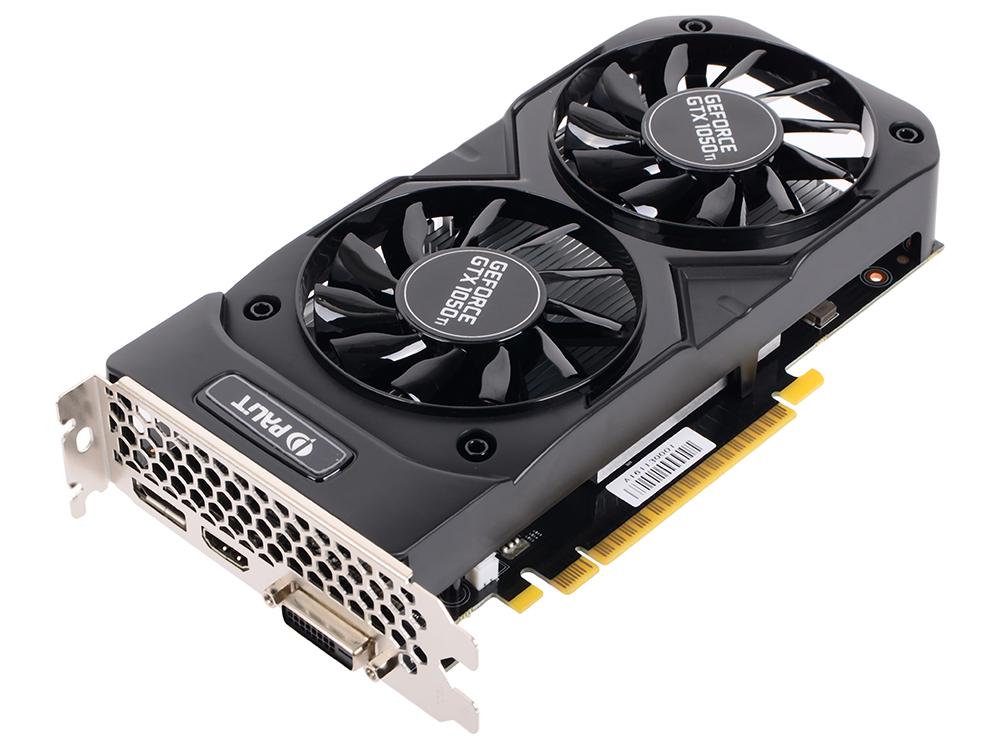 Видеокарта 4096Mb Palit GeForce GTX 1050Ti Dual OC 4G PCI-E 128bit GDDR5 DVI HDMI DP HDCP Retail