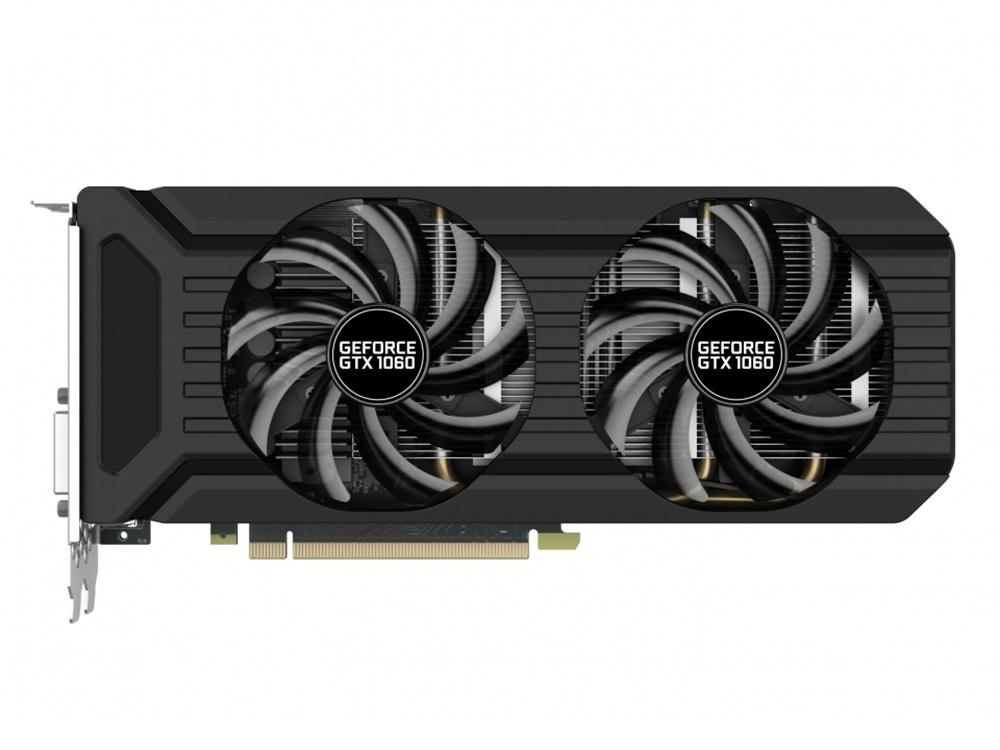 все цены на Видеокарта Palit GeForce GTX 1060 Dual PA-GTX1060 Dual 3G 1506Mhz NVIDIA GTX1060/GDDR5/8000Mhz/192 bit/PCI-E/DVI,DP,HDMI онлайн