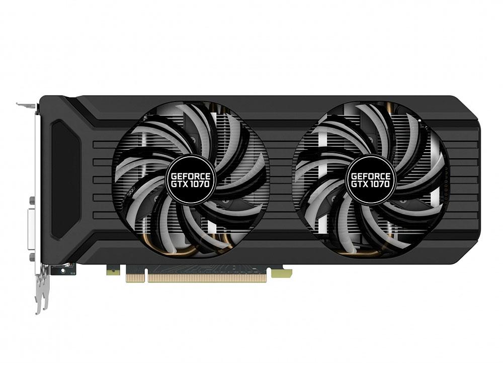 все цены на Видеокарта Palit GeForce GTX 1070 Dual PA-GTX1070 Dual 8G 1506Mhz NVIDIA GTX1070/GDDR5/8000Mhz/256 bit/PCI-E/DVI,DP,HDMI онлайн