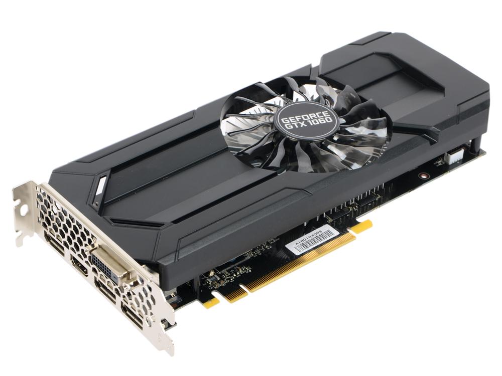Видеокарта Palit GeForce PA-GTX1060 STORMX 6G NE51060015J 6144Mb 1506Mhz NVIDIA GTX1060/GDDR5/8000Mhz/192 bit/PCI-E/DVI,DP,HDMI видеокарта 1024mb palit geforce gt730 pci e dvi hdmi neat7300hd06 2080h retail