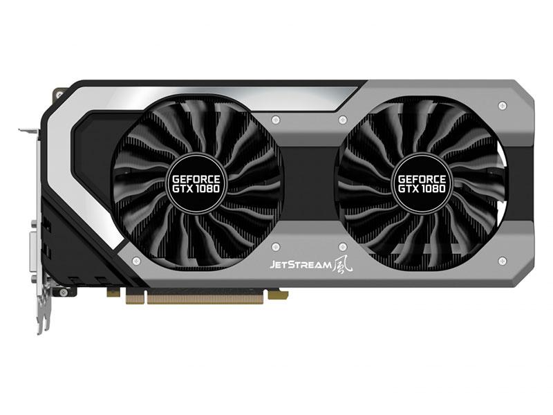 все цены на Видеокарта Palit GeForce GTX 1080 JetStream PA-GTX1080 8192Mb 1607Mhz NVIDIA GTX1080/GDDR5X/10000Mhz/256 bit/PCI-E/DVI,DP,HDMI онлайн