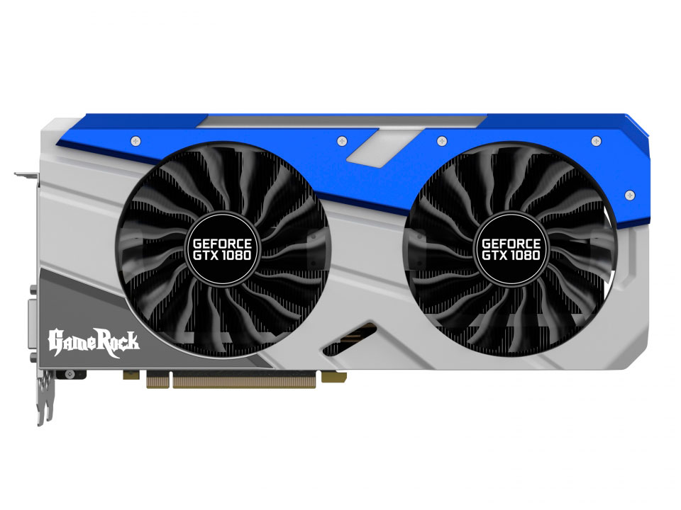 Видеокарта Palit GeForce GTX 1080 GameRock Premium Edition 8192Mb 1746Mhz NVIDIA GTX1080/GDDR5X/10500Mhz/256 bit/PCI-E/DVI,DP,HDMI видеокарта palit geforce gtx1050 ti dual 4g ne5105t018g1 4096mb 1290mhz nvidia gtx1050 ti gddr5 7000mhz 128 bit pci e dvi dp hdmi