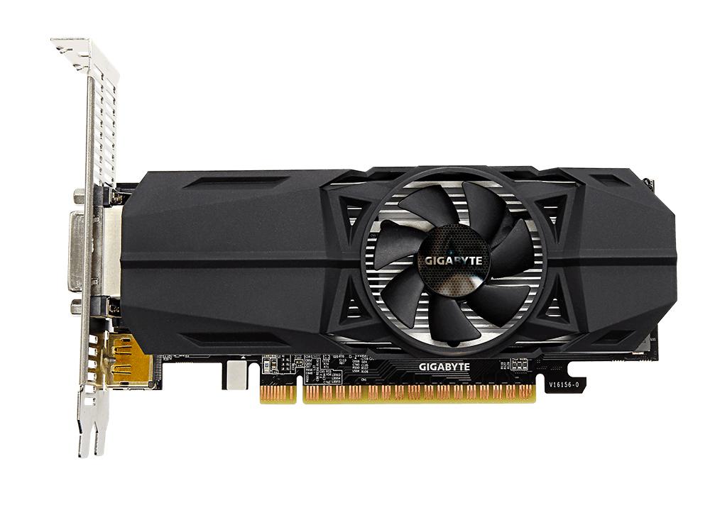 Видеокарта 2Gb GIGABYTE GeForce GTX 1050 OC Low Profile 2G GV-N1050OC-2GL