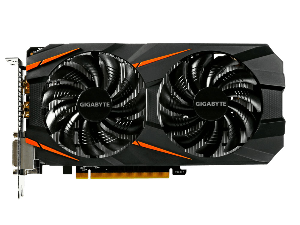 Видеокарта 6Gb GIGABYTE GeForce GTX 1060 WINDFORCE 6G 6G GV-N1060WF2-6GD