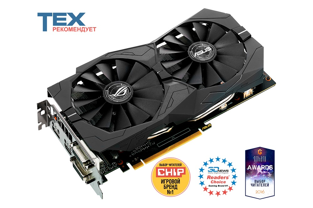 Видеокарта 4Gb ASUS STRIX-GTX1050TI-4G-GAMING