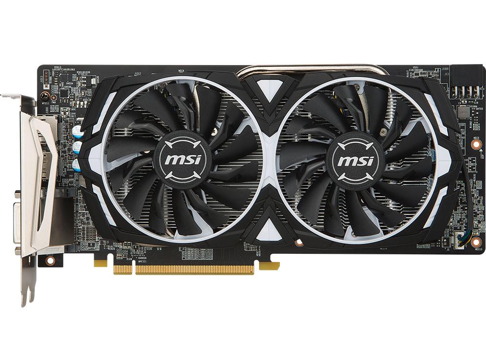 Видеокарта 4Gb (PCI-E) MSI Radeon RX 480 ARMOR 4G OC (RX 480, GDDR5, 256 bit, HDCP, 2*HDMI, 2*DP, DVI, Retail)