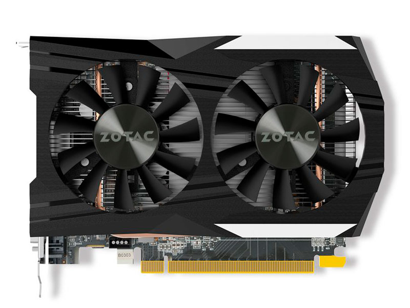 Видеокарта 4Gb Zotac GeForce GTX 1050 Ti OC (ZT-P10510B-10L)