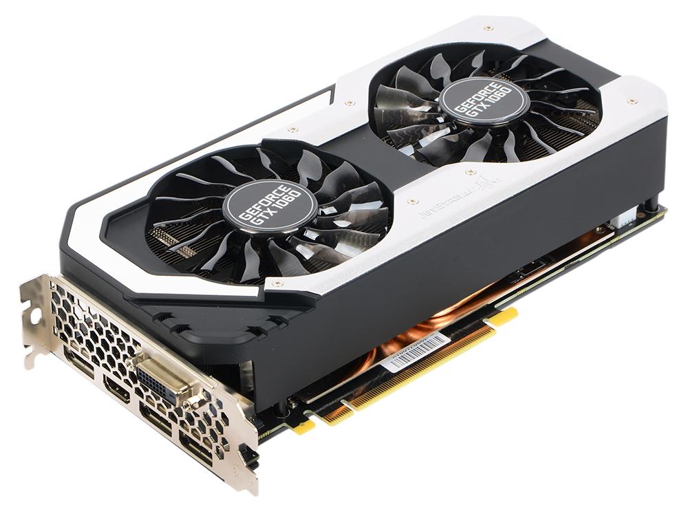 Видеокарта Palit GeForce GTX1060 Jetstream 3G NE51060015F 3072Mb 1506Mhz NVIDIA GTX1060/GDDR5/8000MHz/192 bit/PCI-E/ DVI DP HDMI видеокарта gigabyte geforce gt710 2gb gddr5