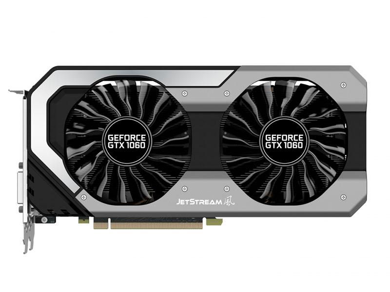 Видеокарта Palit GeForce GTX1060 Jetstream 3G NE51060015F 3072Mb 1506Mhz NVIDIA GTX1060/GDDR5/8000MHz/192 bit/PCI-E/ DVI DP HDMI видеокарта asus geforce gtx 1060 1506mhz pci e 3 0 6144mb 8008mhz 192 bit dvi 2xhdmi hdcp strix gtx1060 6g gaming