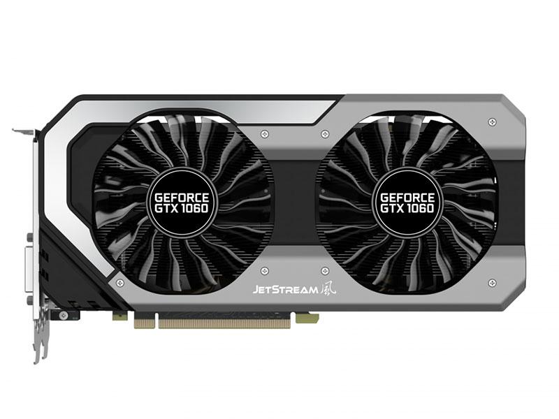 Видеокарта Palit GeForce GTX1060 SUPER JETSTREAM 3G NE51060S15F9-1060J 3072Mb 1594Mhz NVIDIA GTX1060/GDDR5/8000MHz/192 bit/PCI-E/ DVI DP HDMI видеокарта 6144mb msi geforce gtx 1060 gaming x 6g pci e 192bit gddr5 dvi hdmi dp hdcp retail