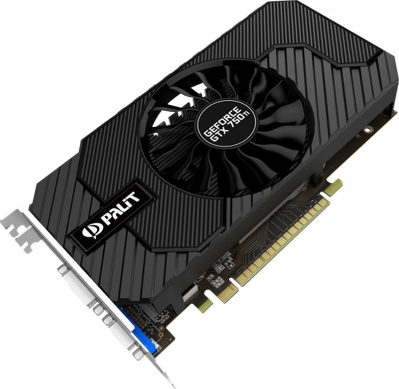 Видеокарта 2048Mb Palit GeForce GTX750TI StormX OC PCI-E 128bit DDR5 DVI HDMI VGA NE5X75TSHD41-1077F