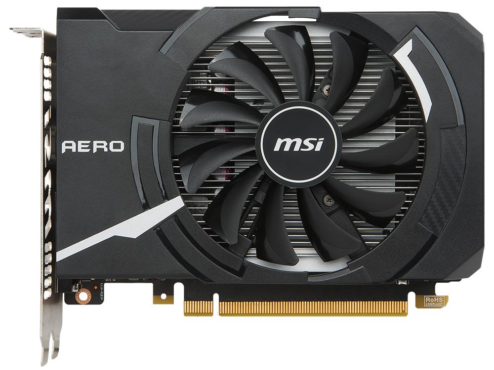 Видеокарта 4Gb MSI GeForce GTX 1050 Ti AERO ITX 4G OC