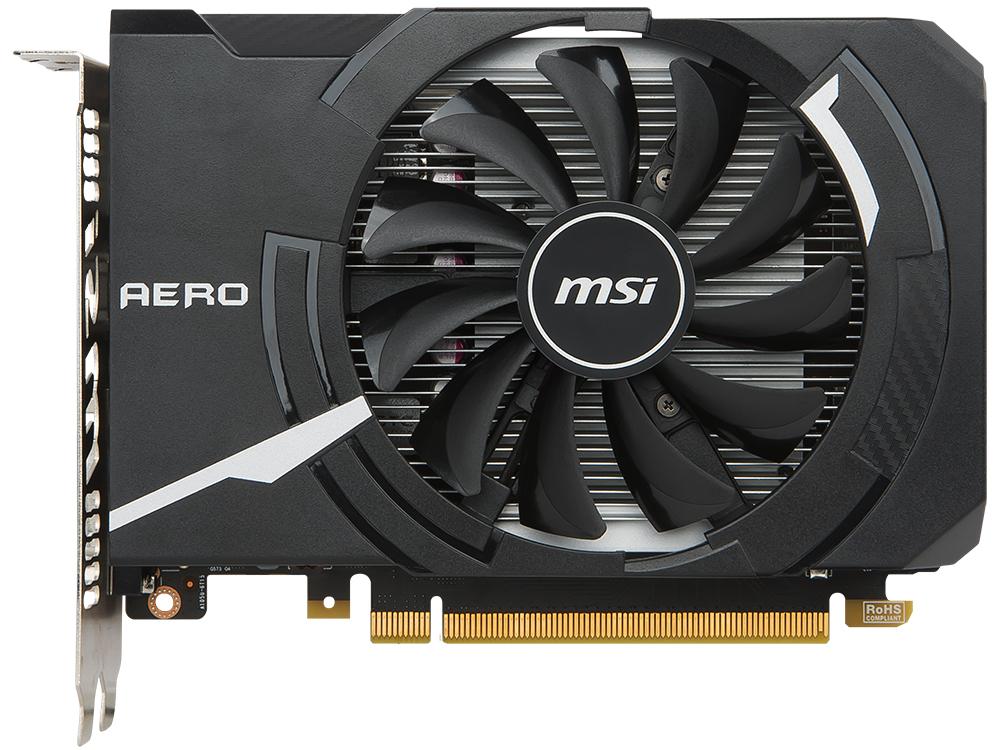 Видеокарта 2Gb MSI GeForce GTX 1050 AERO ITX 2G OC