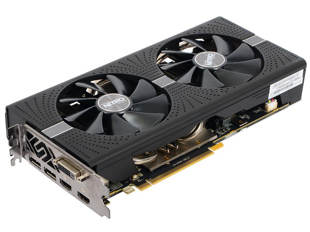 Видеокарта Sapphire RX 580 NITRO+ (11265-01-20G) 8Gb AMD RX 580/GDDR5/8000MHz/256 bit/PCI-E/ DVI DP HDMI видеокарта sapphire rx 580 pulse oc 11265 05 20g 8gb amd rx 580 gddr5 8000mhz 256 bit pci e dvi dp hdmi