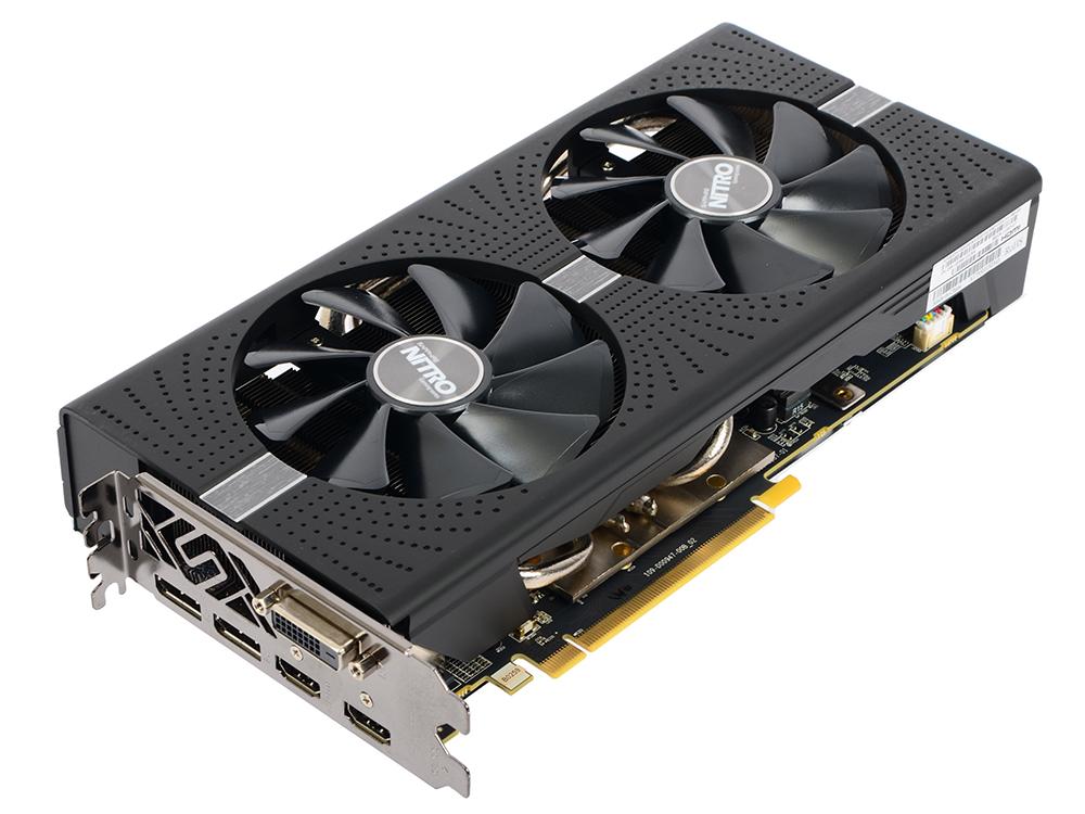 Видеокарта Sapphire RX 580 Nitro+ (11265-07-20G) 4Gb AMD RX 580/GDDR5/7000MHz/256 bit/PCI-E/ DVI DP HDMI видеокарта sapphire radeon rx 460 nitro oc 1175mhz pci e 3 0 4096mb gddr5 128bit dvi dp hdmi hdcp 11257 02 20g