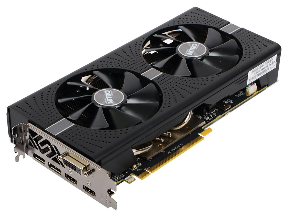 Видеокарта Sapphire RX 570 NITRO+ (11266-09-20G) 8Gb AMD RX 570/GDDR5/7500MHz/256 bit/PCI-E/ DVI DP HDMI видеокарта sapphire radeon rx 460 nitro oc 1175mhz pci e 3 0 4096mb gddr5 128bit dvi dp hdmi hdcp 11257 02 20g