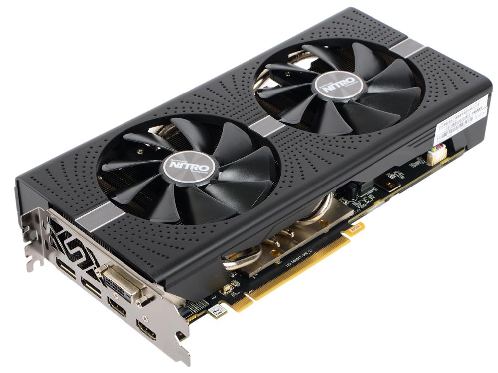 Видеокарта Sapphire Nitro+ RX 570 11266-14-20G 4GB 1340 MHz AMD RX 570/GDDR5 7000MHz/256bit/PCI-E/HDMI, DP, DVI pci e to