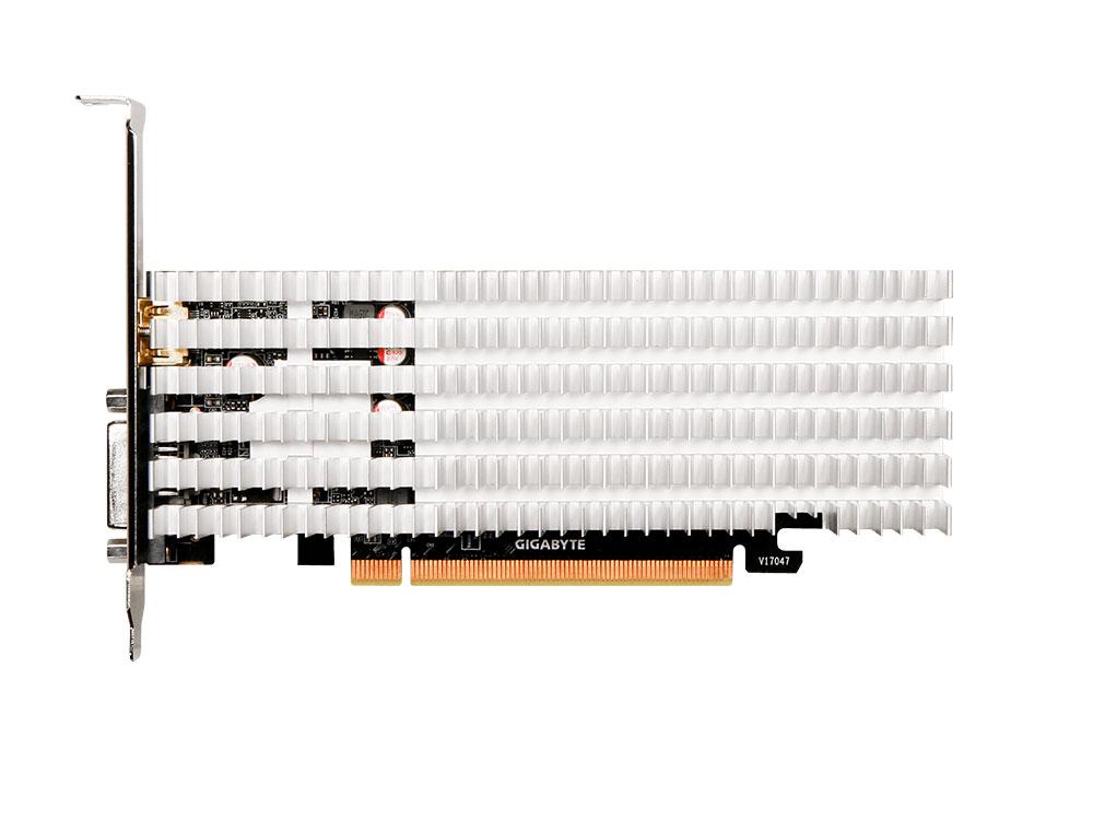 Видеокарта 2Gb (PCI-E) GIGABYTE GV-N1030SL-2GL (GT1030, GDDR5, 64 bit, HDCP, DVI, HDMI, LP, radiator, Retail)