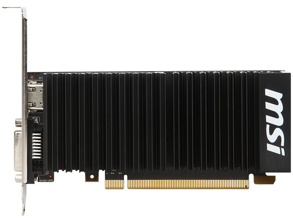 Видеокарта 2Gb <PCI-E> MSI GT 1030 2GH LP OCV1 <GT1030, GDDR, 64 bit, HDCP, DVI, HDMI, Retail>
