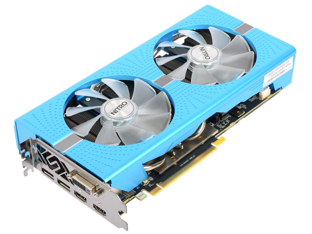 Видеокарта Sapphire RX 580 NITRO+ Special Edition DUAL 8Gb 1430MHz AMD RX 580/GDDR5/8400MHz/256 bit/PCI-E/ DVI DP HDMI видеокарта asus geforce gtx 1060 1620mhz pci e 3 0 6144mb 8208mhz 192 bit dvi hdmi hdcp rog strix gtx1060 o6g gaming