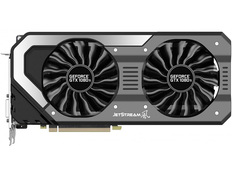 Видеокарта Palit GeForce GTX 1080 Ti JetStream 11Gb 1480 MHz (NEB108T015LC-1020J) GeForce GTX 1080 Ti/GDDR5X 11000 MHz/352 bit/PCI-E/3*DP HDMI DVI geforce gtx 560 ti 2win