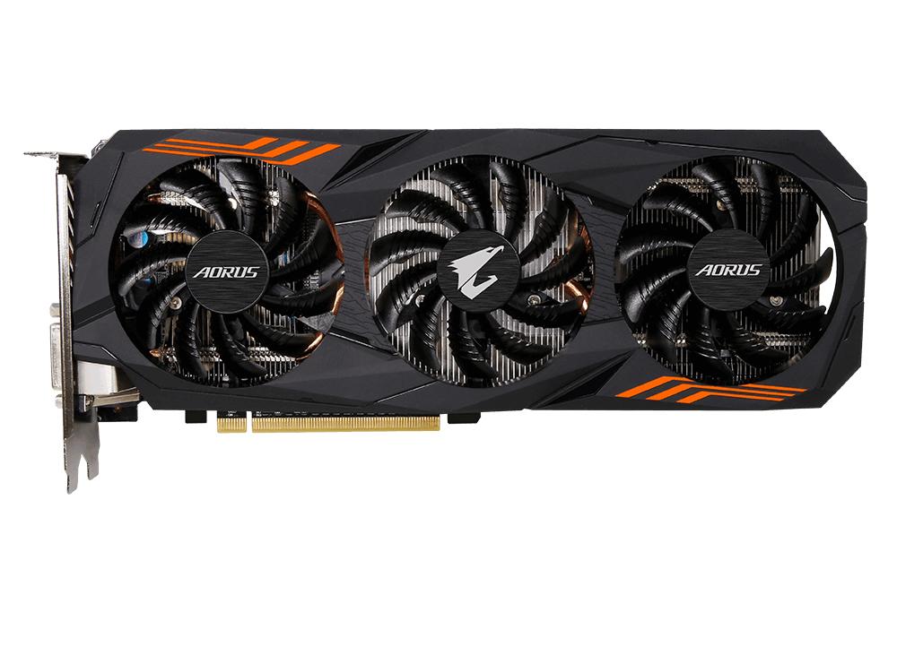 Видеокарта Gigabyte GeForce GTX1060 GV-N1060AORUS-6GD rev. 2.0 6144Mb 1607Mhz NVIDIA GTX1060/GDDR5/8008MHz/192 bit/PCI-E/DVI DP HDMI видеокарта gigabyte geforce gt710 2gb gddr5