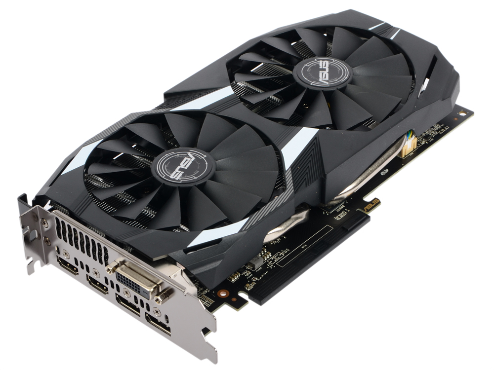Видеокарта ASUS DUAL-RX580-O8G 8Gb 1360 Mhz AMD RX 580/GDDR5 8000 MHz/256 bit/PCI-E/DVI, 2xHDMI, 2xDP