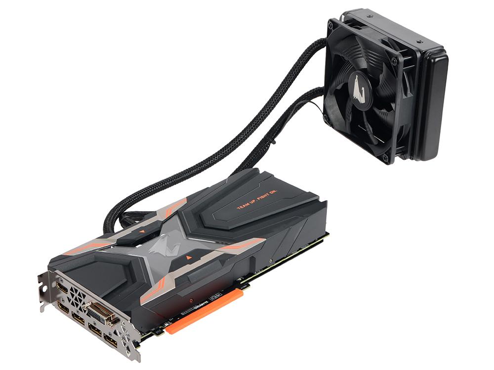 купить Видеокарта GIGABYTE GeForce GTX 1080 Ti GV-N108TAORUS X W-11GD 11Gb 1607Mhz NVIDIA GTX1080 Ti/GDDR5X/11232MHz/352 bit/PCI-E/DVI DP HDMI дешево