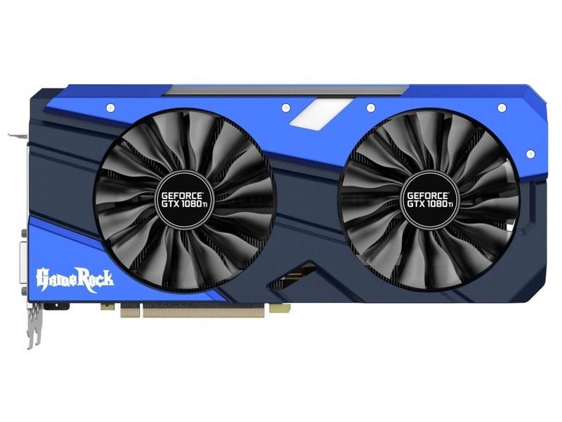Видеокарта Palit GeForce GTX1080 Ti GameRock Premium 11GB 1556 MHz NVIDIA GTX1080 Ti/GDDR5X 11000MHz/352 bit/PCI-E/ DVI 3*DP HDMI видеокарта palit geforce gtx1050 ti dual 4g ne5105t018g1 4096mb 1290mhz nvidia gtx1050 ti gddr5 7000mhz 128 bit pci e dvi dp hdmi
