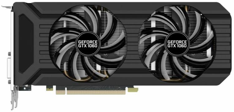 Видеокарта 6144Mb Palit GeForce GTX1060 PCI-E 192bit GDDR5 DVI HDMI DP HDCP NE51060015J9-1061D OEM