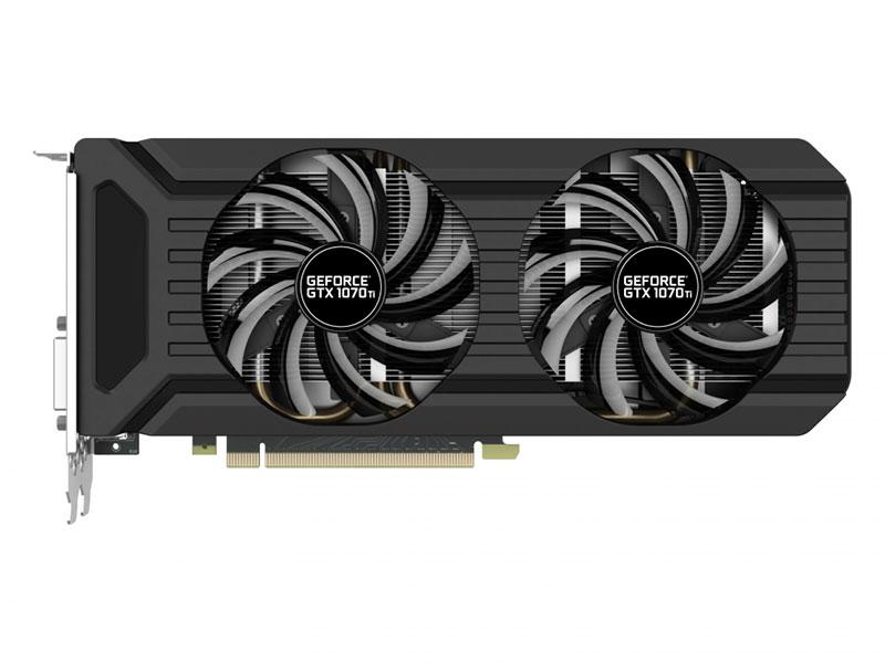 Видеокарта Palit GeForce GTX 1070 Ti Dual 1607 MHz GeForce GTX 1070 Ti/GDDR5 8000MHz/256 bit/PCI-E/DVI HDMI 3*DP palit geforce gtx 1080 1645mhz pci e 3 0 8192mb 10000mhz 256bit dvi hdmi 3dp hdcp neb1080t15p2 1040g