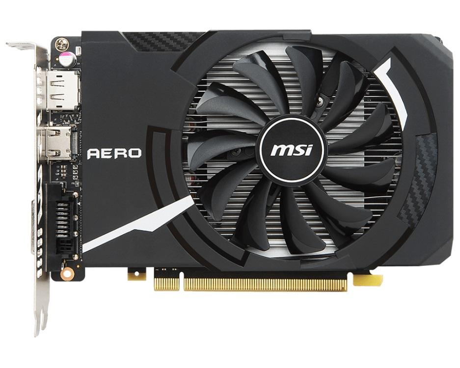 Видеокарта MSI GeForce GTX 1050 AERO ITX 2G OCV1 2 GB 1404 MHz NVIDIA GTX1050/GDDR5 7008MHz/128bit/PCI-E/HDCP, DVI, HDMI, DP видеокарта пк msi geforce gtx 1060 1531mhz pci e 3 0 3072mb 8008mhz 192 bit dvi hdmi hdcp gtx1060gaming3g