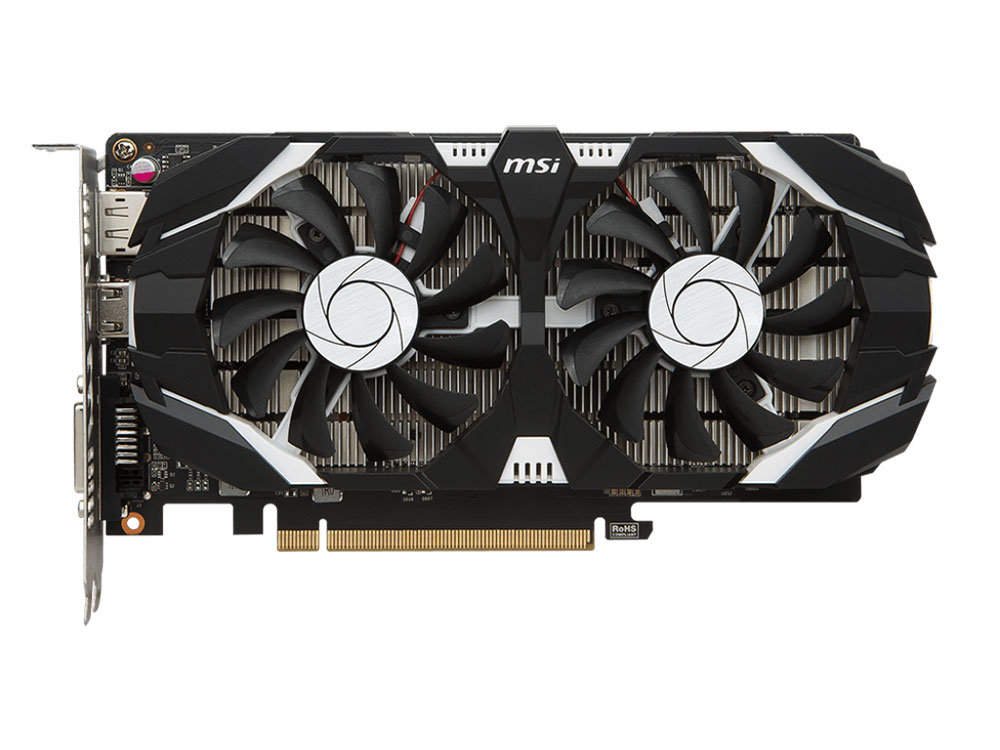 Видеокарта MSI GeForce GTX 1050 2G OCV1 2Gb 1404Mhz NVIDIA GTX1050/GDDR5/7008Mhz/128 bit/PCI-E/DVI,DP,HDMI kingston kc1000 960gb ssd накопитель