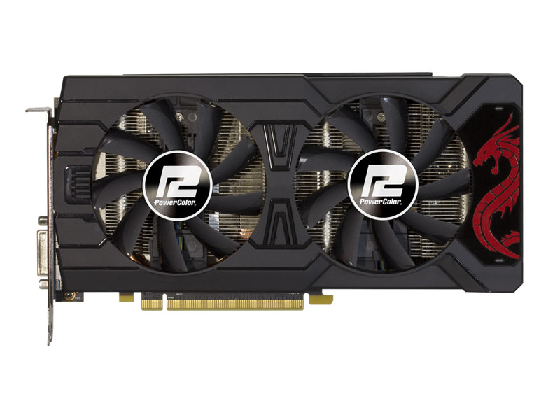 Видеокарта PowerColor Red Dragon Radeon RX 570 (AXRX570 8GBD5-3DHD/OC) 8Gb 1250Mhz AMD RX 570/GDDR5/7000MHz/256 bit/PCI-E/DVI 3*DP HDMI