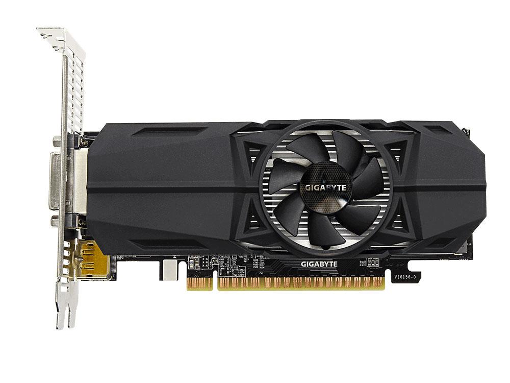 3d3d65071ca1 Видеокарта GIGABYTE GeForce GTX 1050 Low Profile 2G GV-N1050-2GL 2GB 1354  MHz NVIDIA GTX1050 GDDR5 7008MHz 128bit PCI-E HDCP, DVI, 2xHDMI, DP