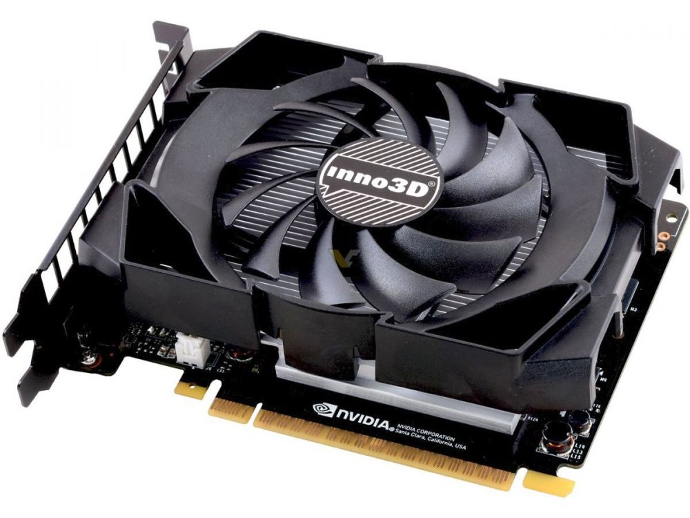 Видеокарта Inno3D GeForce GTX 1050 Compact N1050-1SDV-L5OM 3GB 1392 MHz NVIDIA GTX1050/GDDR5 7000MHz/96-bit/PCI-E/DVI, DP, HDMI видеокарта inno3d geforce gtx 1050 2048mb twin x2 n1050 1ddv e5cm dvi d hdmi dp ret
