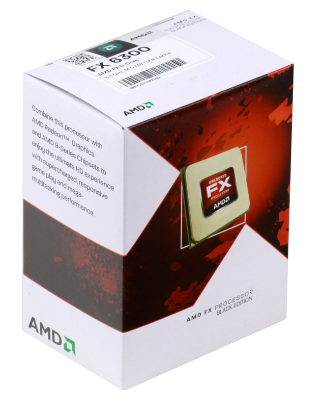 Процессор AMD FX-6300 BOX SocketAM3 +  (FD6300WMHKBOX)