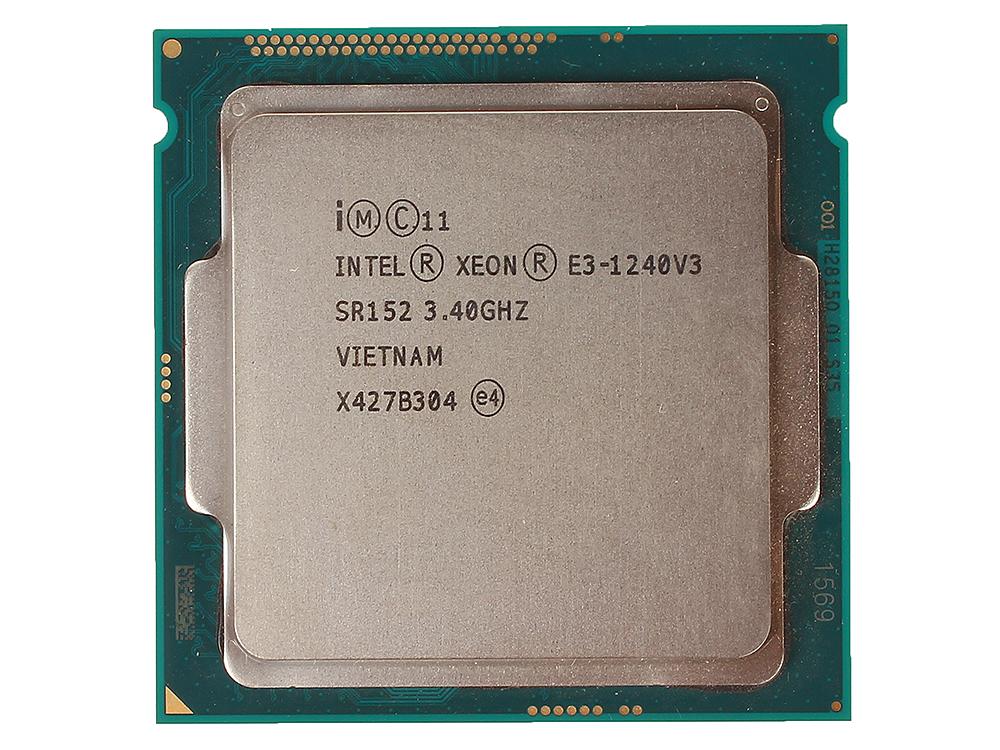 Процессор Intel Xeon E3-1240v3 OEM 3,40GHz, 8M Cache, Socket1150, Haswell процессор intel xeon e5345 cpu 2 33g 8m