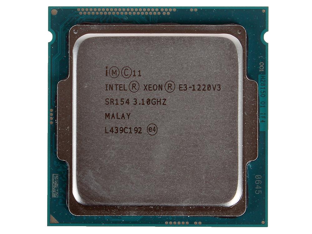 Процессор Intel Xeon E3-1220v3 OEM 3,10GHz, 8M Cache, Socket1150 процессор intel xeon e5 2623v4 broadwell ep 2600mhz lga2011 3 l3 10240kb oem cm8066002402400sr2pj