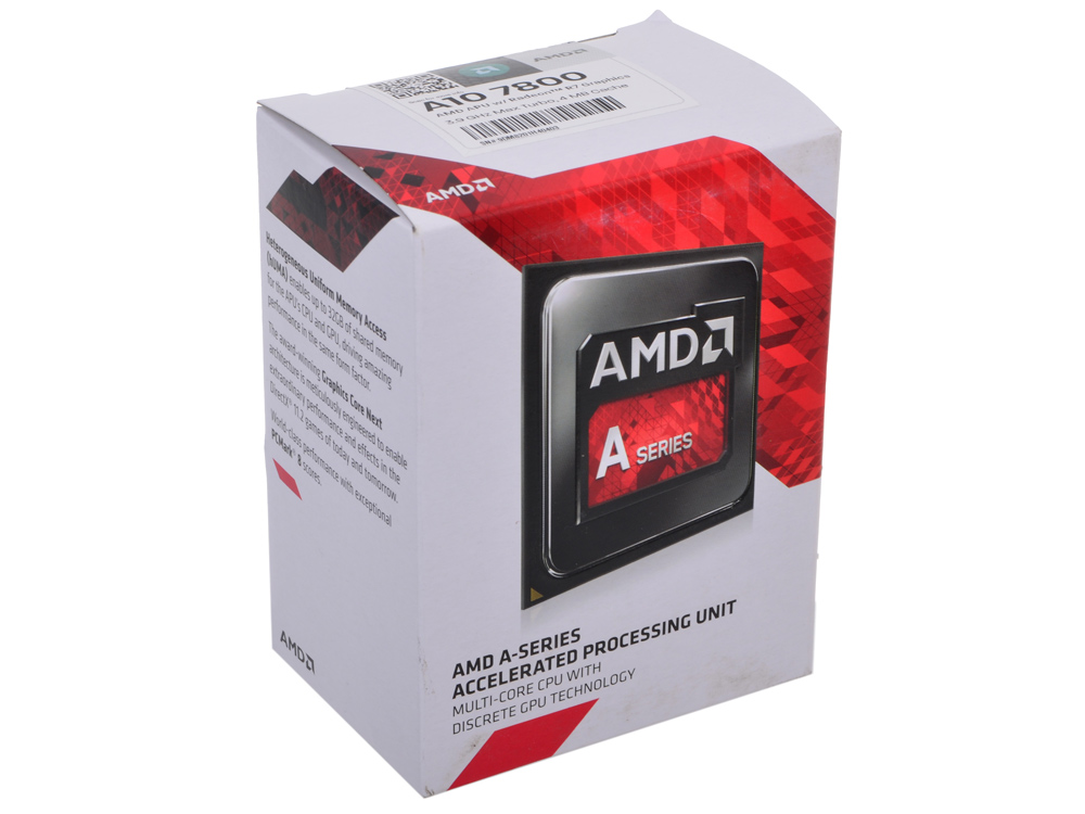 Процессор AMD A10 7800 Socket FM2+ (AD7800YBJABOX) процессор amd a8 7500 3 0ghz 2mb ad7500ybi44ja socket fm2 oem