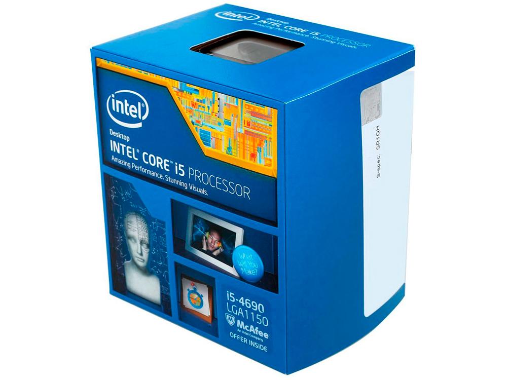 Процессор Intel Core i5-4690 BOX 3.50GHz, 6Mb, LGA1150 (Haswell) процессор intel core i5 4690k box bx80646i54690ksr21a