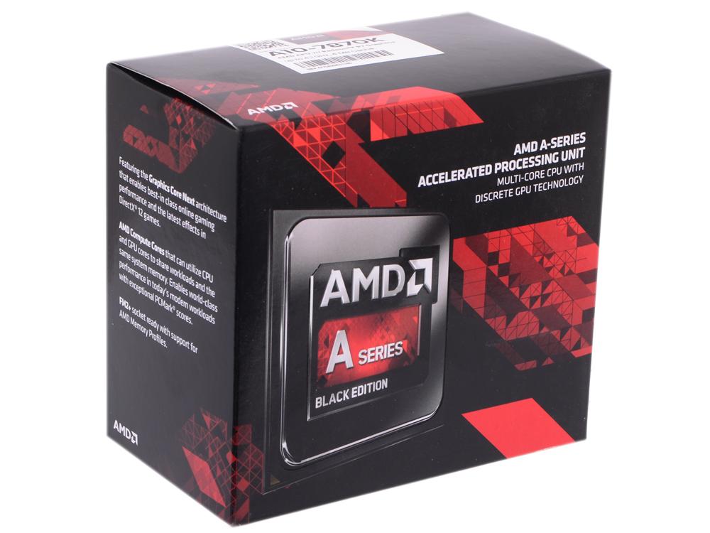 Процессор AMD A10 7870-K BOX Socket FM2+ (AD787KXDJCBOX) процессор amd a10 x4 6700 socket fm2 ad6700okhlbox box