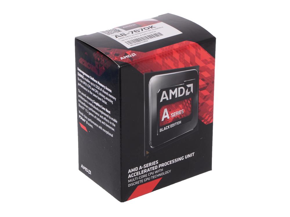 Процессор AMD A8 7670-K BOX (Socket FM2+) (AD767KXBJCBOX) процессор amd a8 7670 k box socket fm2 ad767kxbjcsbx