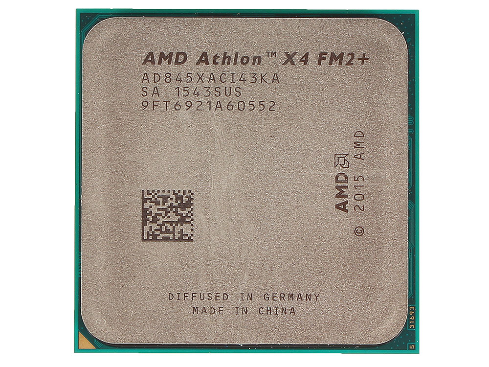Процессор AMD Athlon X4 845 OEM Socket FM2+ (AD845XACI43KA) процессор процессора amd athlon series fm2 socket
