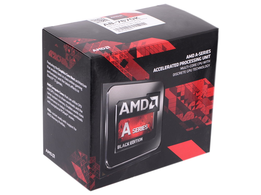 Процессор AMD A8 7670-K BOX Socket FM2+ (AD767KXBJCSBX) процессор amd a8 7600 3 3ghz 4mb ad7600ybi44ja socket fm2 oem